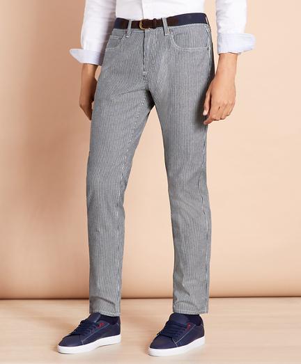 Striped Indigo Lightweight Jeans