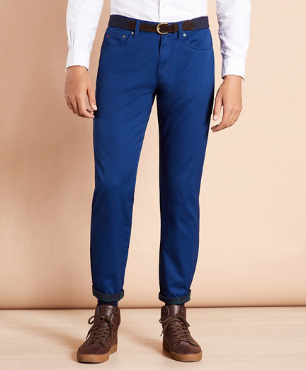 Five-Pocket Flannel-Lined Chinos