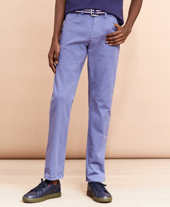 Five-Pocket Stretch Denim Pants Blue