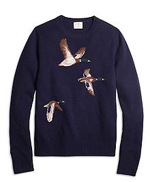 Duck Intarsia Crewneck Sweater