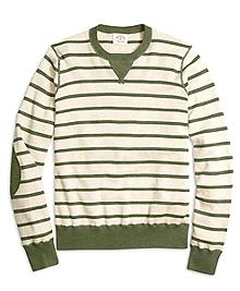Stripe Athletic Crewneck Sweater