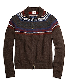 Fair Isle Zip-Front Sweater