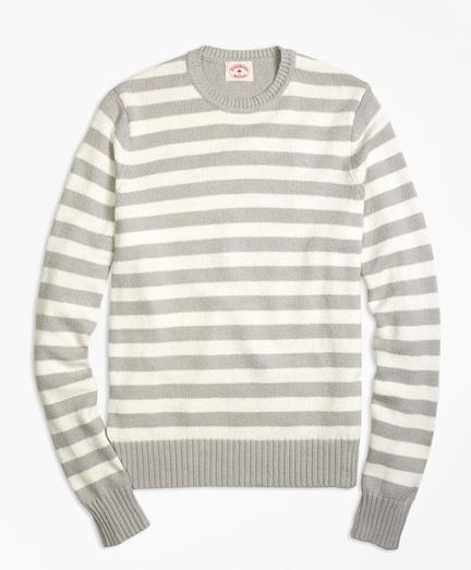 Variegated Stripe Crewneck Sweater