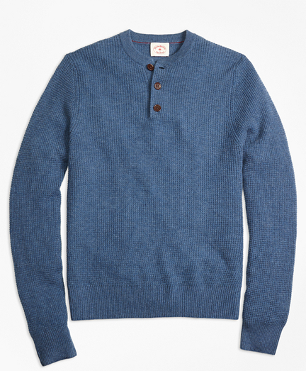 Cashmere Waffle Henley Sweater