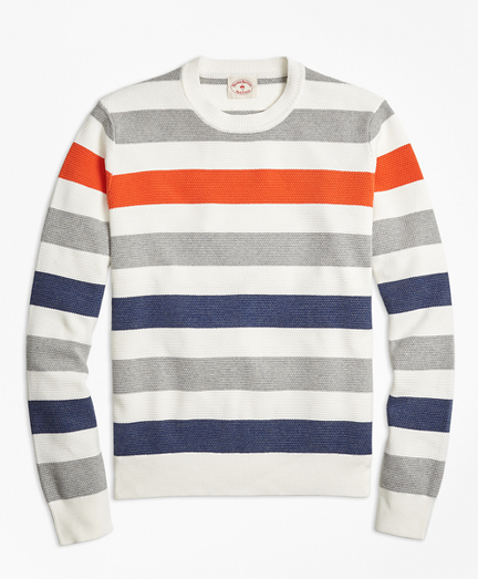 Multi-Stripe Crewneck Sweater