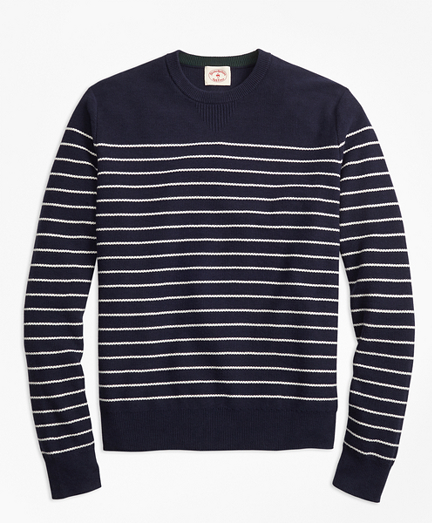 Breton-Stripe Cotton-Cashmere Sweater
