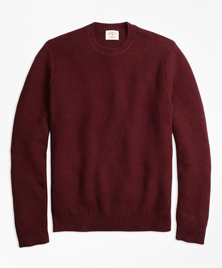 Honeycomb-Knit Cotton Sweater
