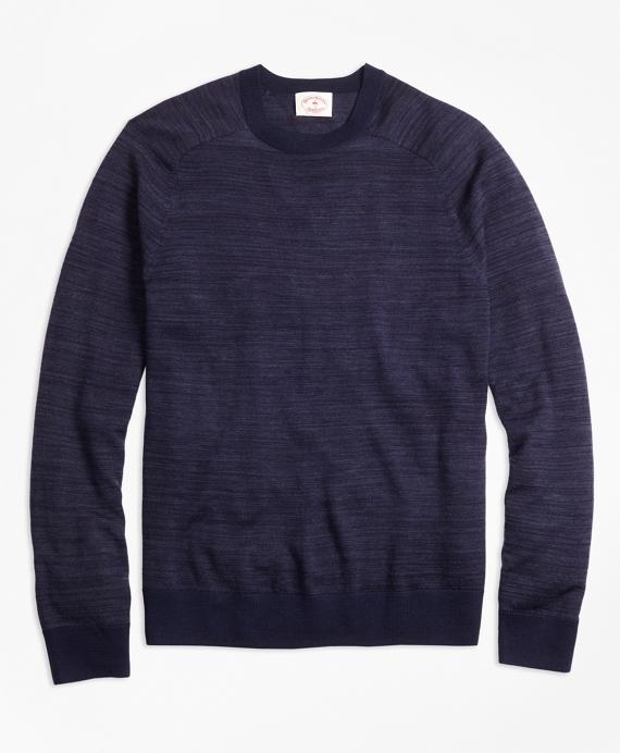 Space-Dyed Merino Wool Sweater Navy