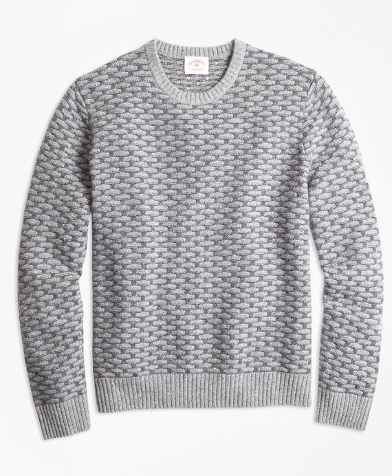 Textured Wool-Blend Sweater Grey