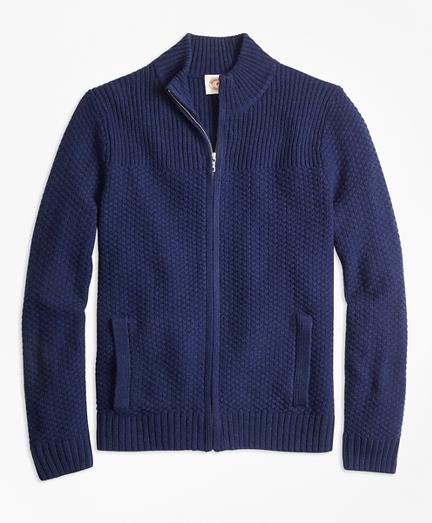 Wool-Blend Zip Cardigan