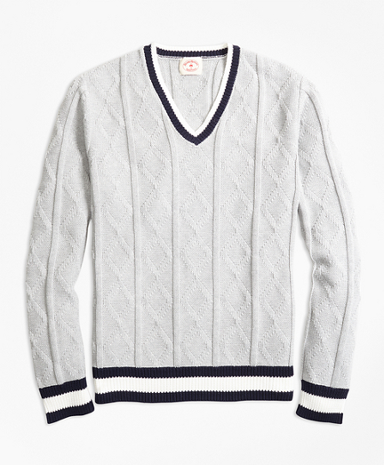Cotton Tennis Sweater