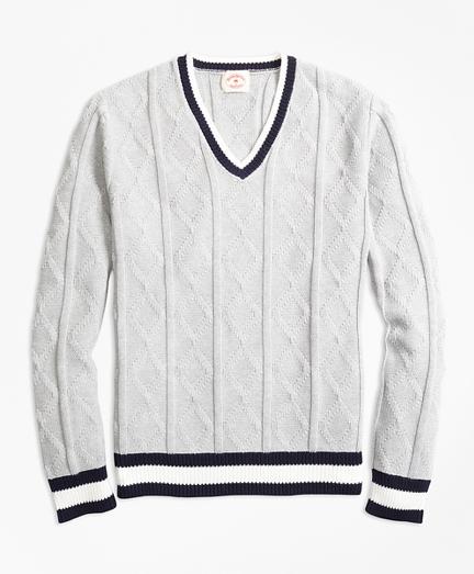 Cotton Tennis Sweater