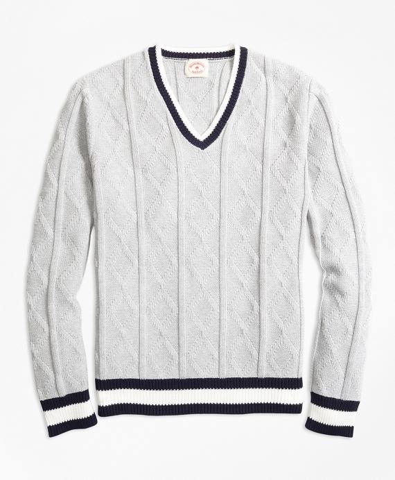Cotton Tennis Sweater Grey