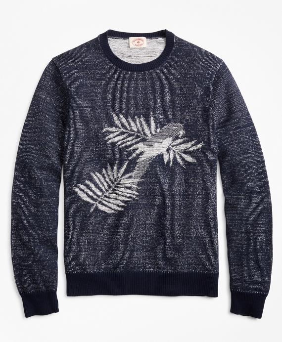 Parrot Crewneck Sweater Blue