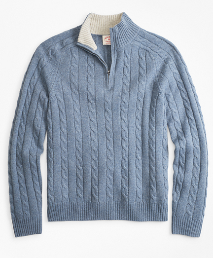 Wool-Blend Half-Zip Sweater