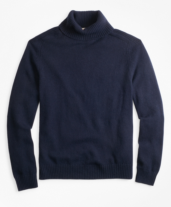 Alpaca-Blend Turtleneck Sweater Navy