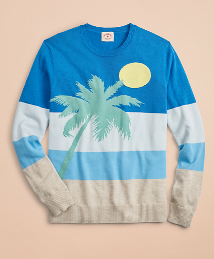 Striped Intarsia Beach Sweater