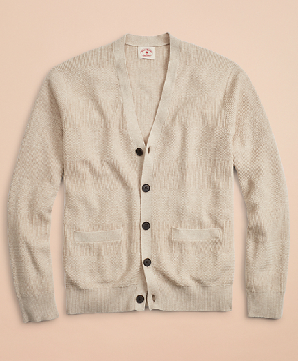 Alternating Stitch Cotton-Linen Cardigan