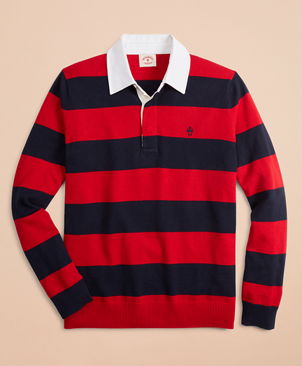 Cotton-Cashmere Rugby Sweater