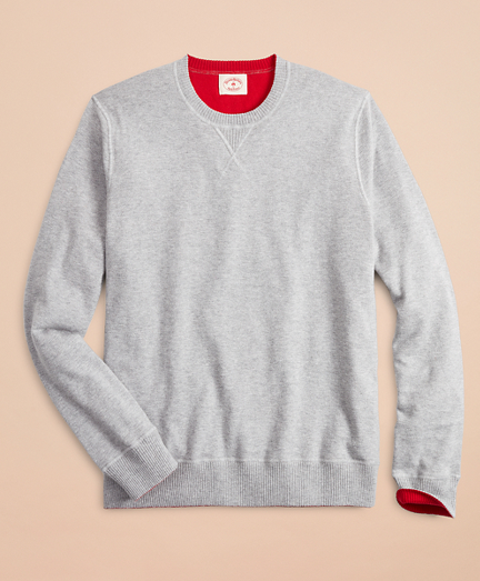 Cotton-Cashmere Reversible Sweater