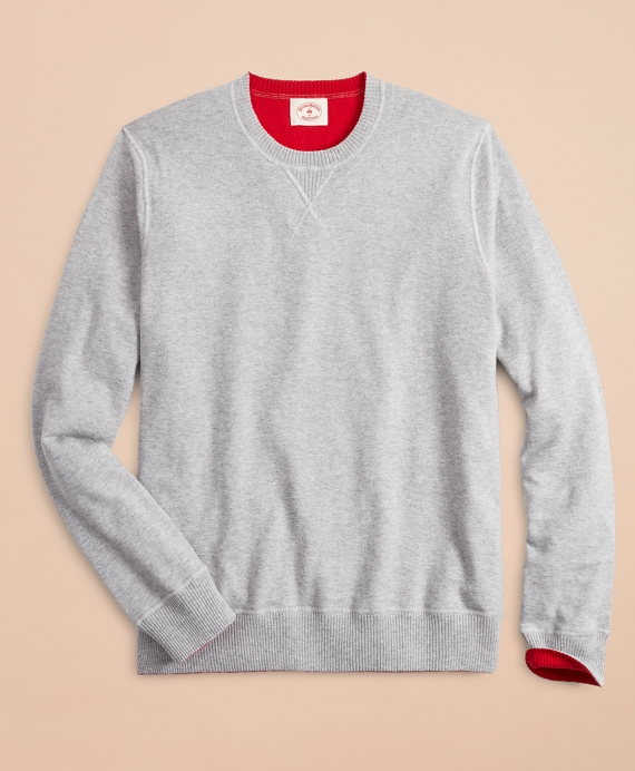 Cotton-Cashmere Reversible Sweater Grey