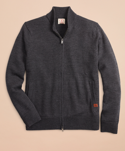 Merino Wool Zip-Up Sweater