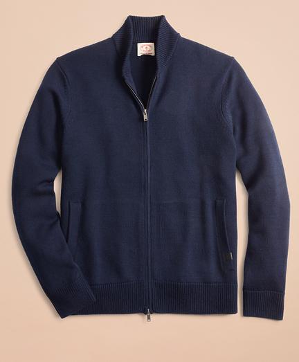 Merino Wool Zip-Up Sweater