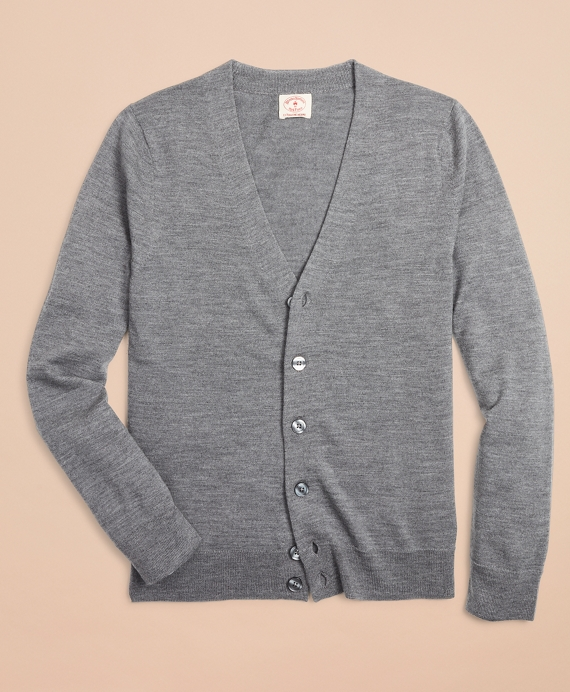 Merino Wool Cardigan Grey
