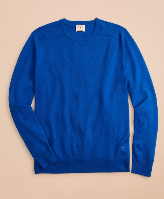 Merino Wool Crewneck Sweater Blue