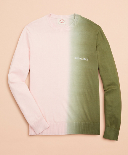 Cotton Ombre Crewneck Sweater