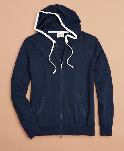 Contrast Zip-Up Hoodie