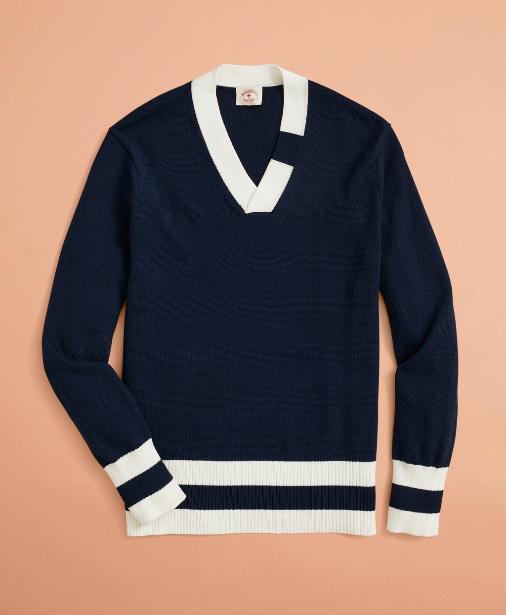 Men's Vintage Sweaters History Brooks Brothers Mens V-Neck Tennis Sweater $73.88 AT vintagedancer.com