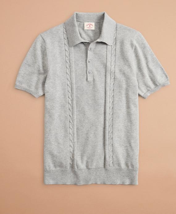 Cotton Polo Sweater Grey