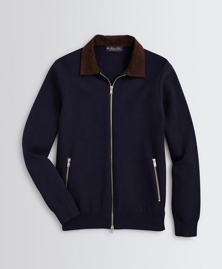 Milano-Knit Bomber Sweater Jacket
