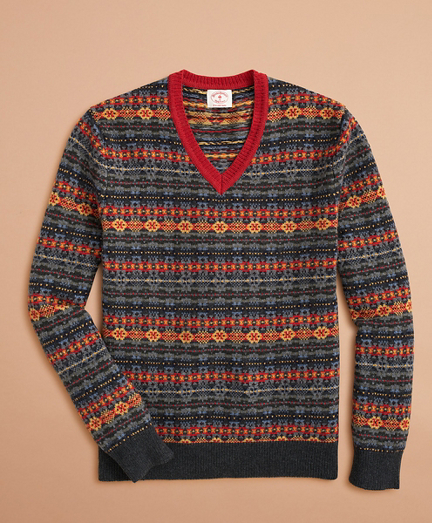 Fair Isle V-Neck Sweater