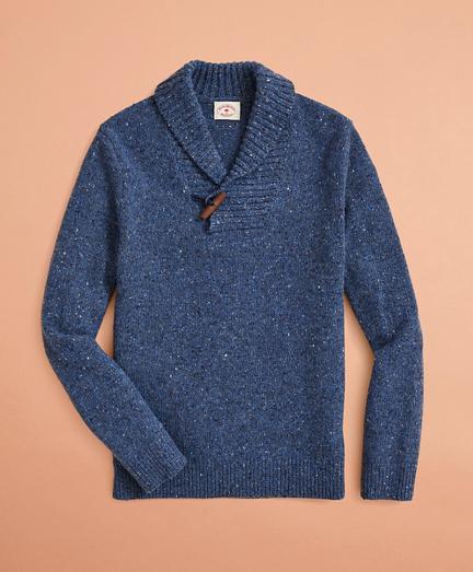 Wool-Alpaca-Blend Shawl-Collar Sweater