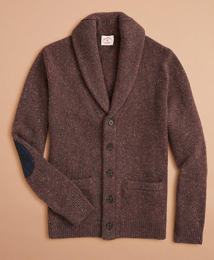 Wool-Alpaca-Blend Shawl-Collar Cardigan