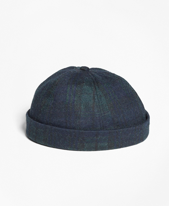Black Watch Tartan Watch Cap Green-Black