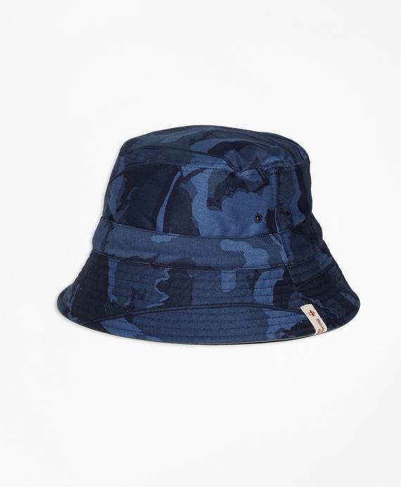 Reversible Cotton Bucket Hat Navy
