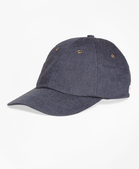 acd58a6fa3641 Denim Baseball Cap - Brooks Brothers