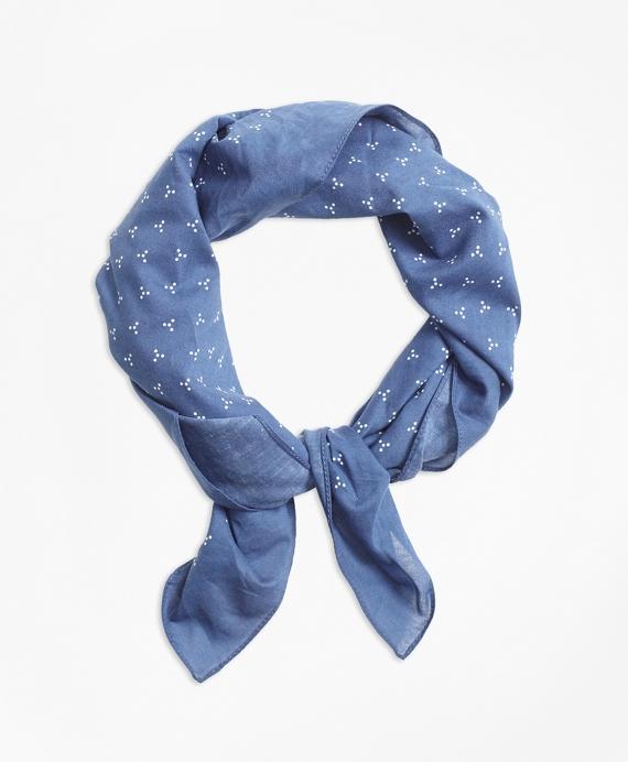 Ditsy-Print Bandana Blue