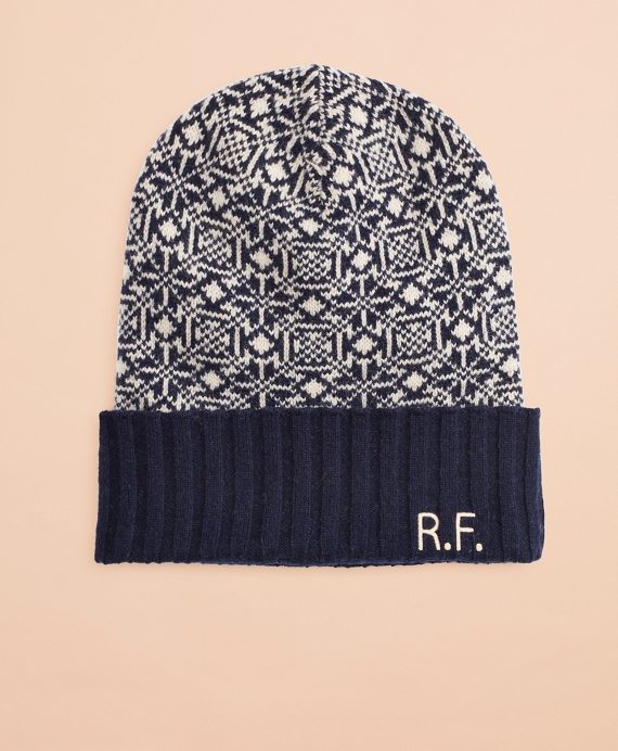 Nordic Wool-Blend Hat Navy-Cream