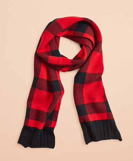 Buffalo Plaid Wool-Blend Scarf