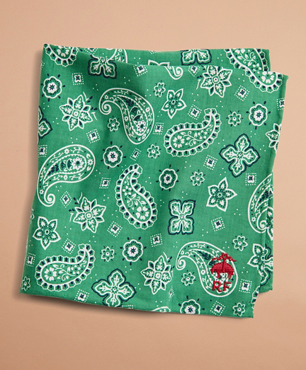 Paisley Cotton Pocket Square