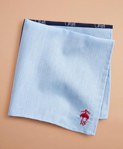 Surf-Print Chambray Pocket Square