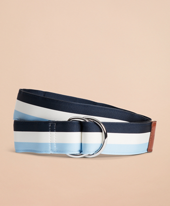Striped Ribbon Belt