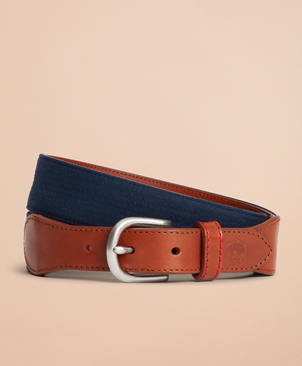 Seersucker Leather Belt