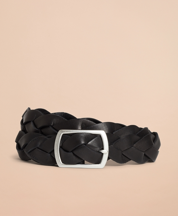 Braided Leather Belt Black