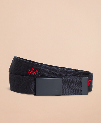 Embroidered Canvas Belt