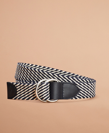 Striped Canvas Belt